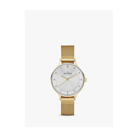 Skagen Women's Anita Stainless Steel Mesh Bracelet Strap Watch