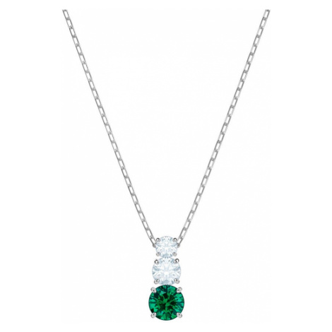 Swarovski Attract Trilogy Emerald Crystal Necklace | Valentine's Gifts