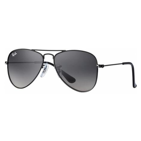 Ray-Ban Aviator junior Unisex Sunglasses Lenses: Gray, Frame: Black - RJ9506S 220/11 50-13