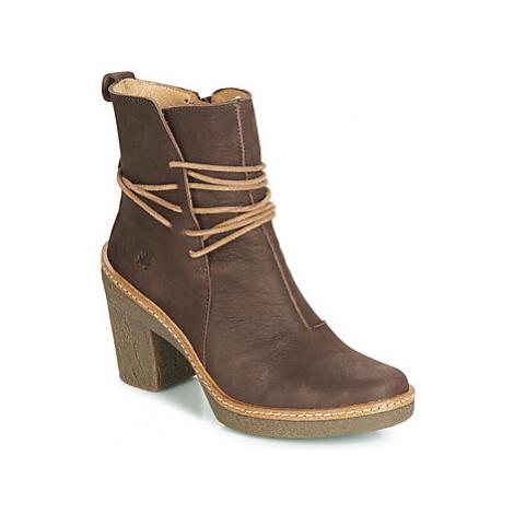 El Naturalista HAYA women's Low Ankle Boots in Brown