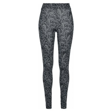 Urban Classics Ladies AOP Hibiscus Leggings Leggings black