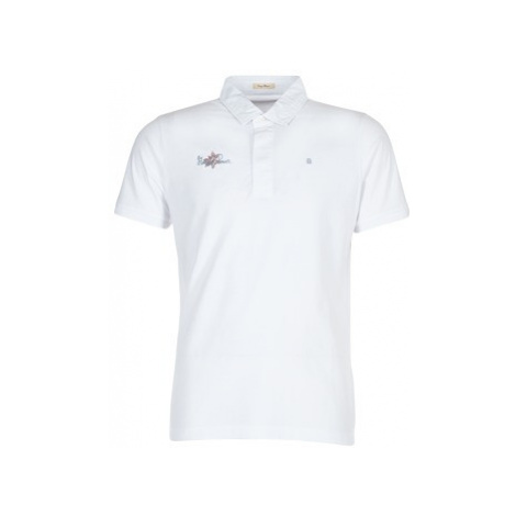 Serge Blanco POWER FLOWER men's Polo shirt in White