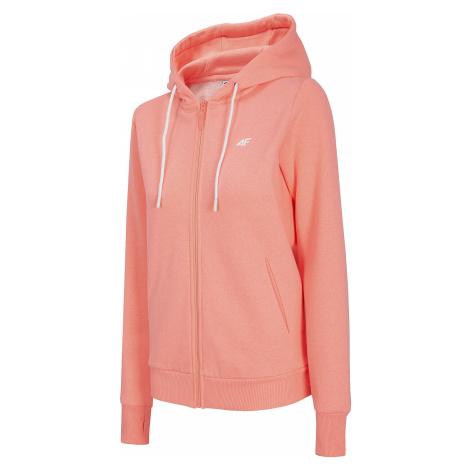 sweatshirt 4F NOSH4-BLD004 Zip - 64M/Salmon Coral Melange - women´s