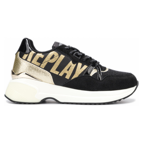 Replay Mossy Sneakers Black Gold