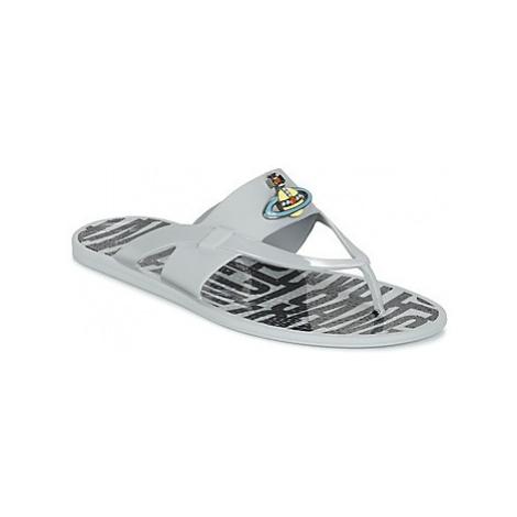 Vivienne Westwood ORB ENAMELLED SDL men's Flip flops / Sandals (Shoes) in Grey