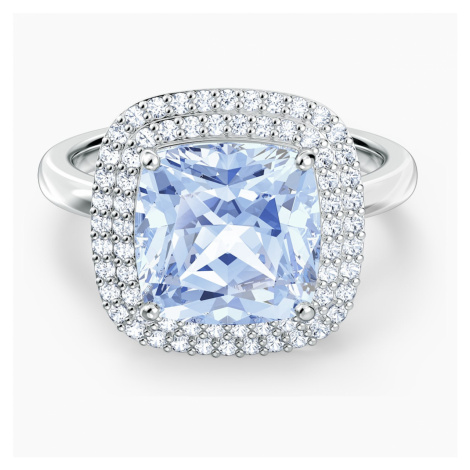 Angelic Ring, Blue, Rhodium plated Swarovski