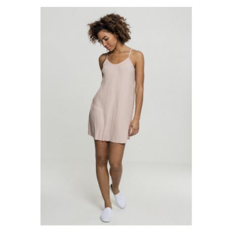 Urban Classics Ladies Jersey Pleated Slip Dress lightrose