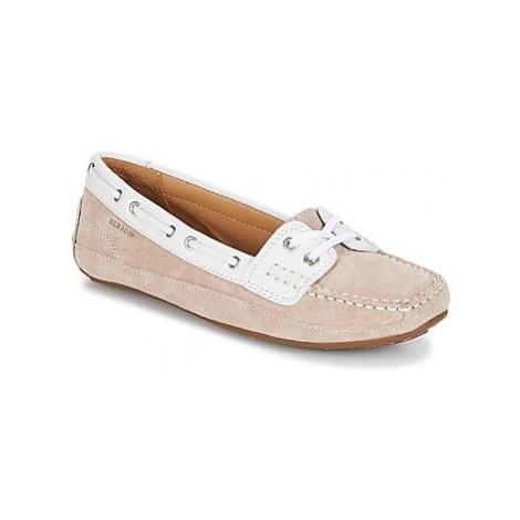 Beige women's loafers