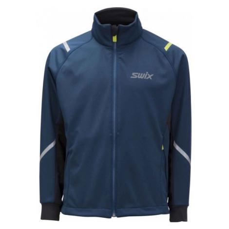 Swix JR CROSS CURVED blue - Children's softshell jacket