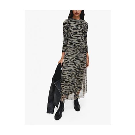 Calvin Klein Logo Zebra Midi Dress, Multi