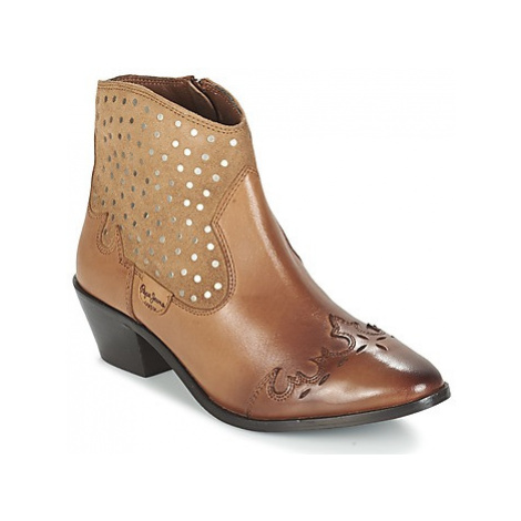 Pepe jeans DINA STUDS women's Mid Boots in Brown