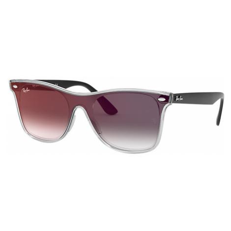 Ray-Ban Blaze wayfarer Unisex Sunglasses Lenses: Gray, Frame: Black - RB4440N 6355U0 01-41