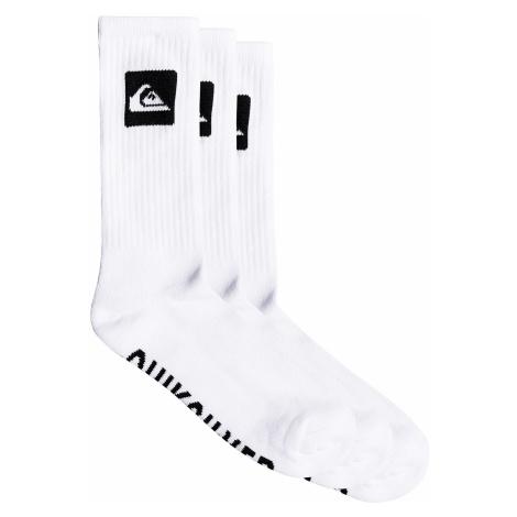 socks Quiksilver Crew 3 Pack - WBB0/White - men´s