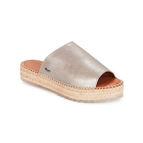 Shabbies SHS0192 ESPADRILLE FLIP FLOP METALLIC LEATHER women's Mules / Casual Shoes in Silver