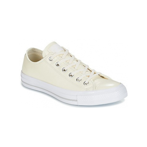 Converse CHUCK TAYLOR ALL STAR CRINKLED PATENT LEATHER OX EGRET/EGRET/WHI women's Shoes (Trainer