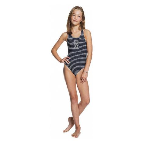 swimsuit Roxy Shore Sporty One Piece - BSP4/Mood Indigo Belem Stripes - girl´s