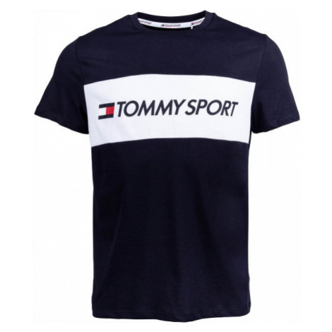 Tommy Hilfiger COLOURBLOCK LOGO TOP dark blue - Men's T-shirt