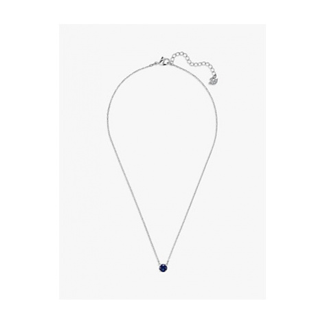 Swarovski Attract Crystal Round Pendant Necklace and Stud Earrings Jewellery Gift Set, Blue