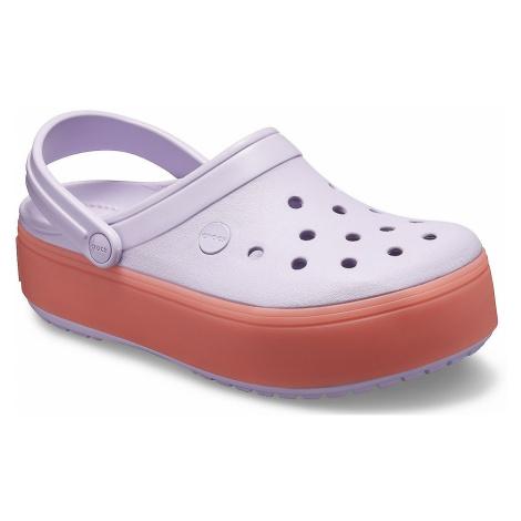 shoes Crocs Crocband Platform Clog - Levander/Melon - women´s