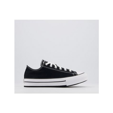 Converse All Star Eva Lift Low Junior Trainers BLACK NATURAL IVORY WHITE