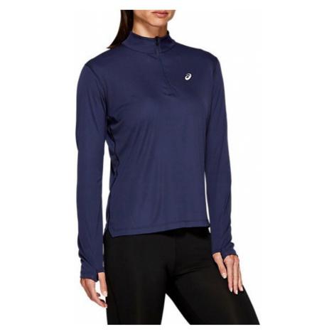 ASICS Silver Half Zip Women's Long Sleeve Running Top