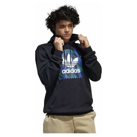 sweatshirt adidas Originals Towning Logo Fill - Black/White/Active Blue/Active Green - men´s