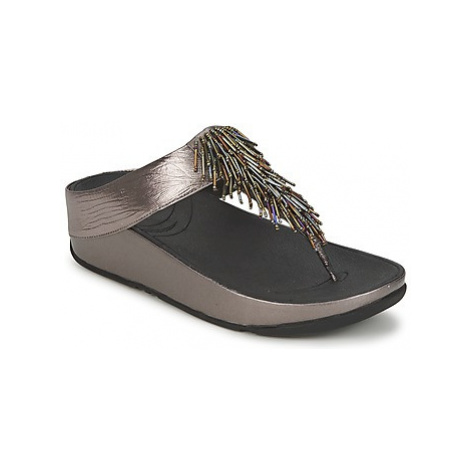 FitFlop CHA CHA™ women's Flip flops / Sandals (Shoes) in Silver
