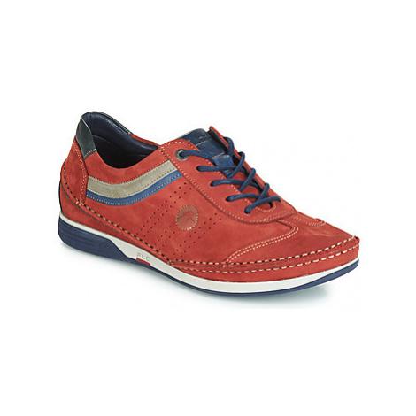 Fluchos JAMES men's Boat Shoes in Red