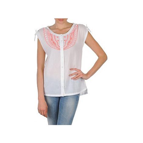 Antik Batik AYLA women's Short sleeved Shirt in White