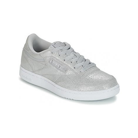Reebok Classic CLUB C J girls's Children's Shoes (Trainers) in Silver