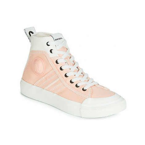 Diesel S-ASTICO MID LACE W women's Shoes (High-top Trainers) in Pink