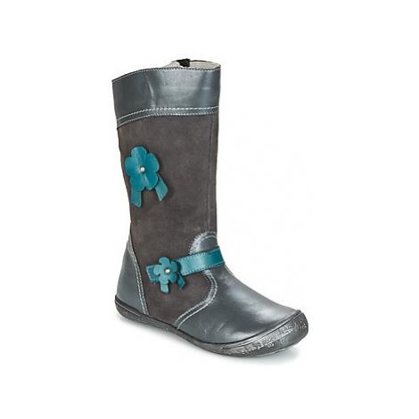 Citrouille et Compagnie RINDAR girls's Children's High Boots in Grey