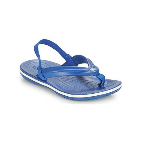 Crocs CROCBAND STRAP FLIP K girls's Children's Sandals in Blue
