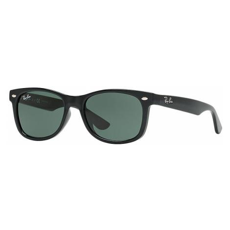 Ray-Ban New wayfarer junior Unisex Sunglasses Lenses: Green, Frame: Black - RJ9052S 100/71 48-16