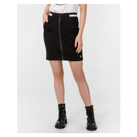 Calvin Klein Milano Monochrome Skirt Black