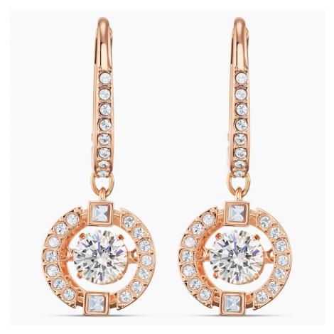 Swarovski Sparkling Dance Pierced Earrings, White, Rose-gold tone plated