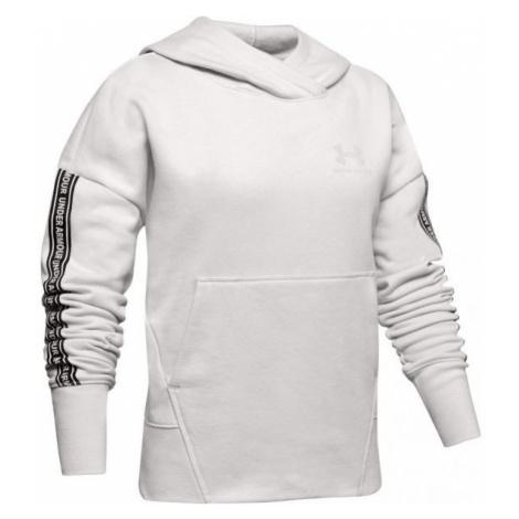Under Armour SPORTSTYLE FLEECE HOODY white - Girls' hoodie