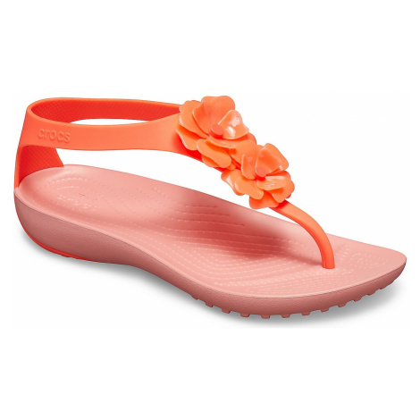 shoes Crocs Serena Embellish Flip - Bright Coral/Melon - women´s