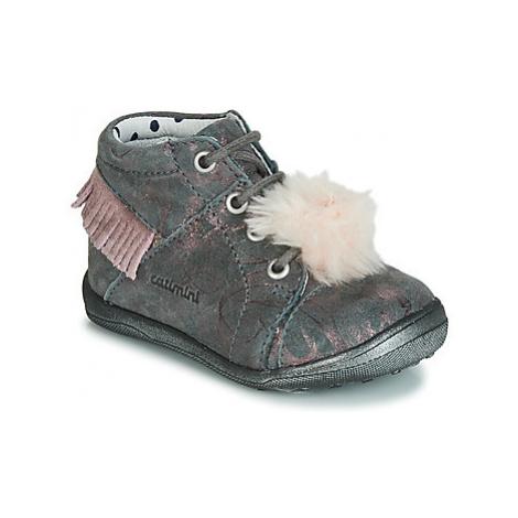Catimini PEPITA girls's Children's Shoes (High-top Trainers) in Grey