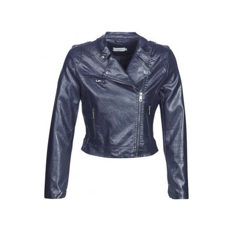 Molly Bracken BIRIN women's Leather jacket in Blue