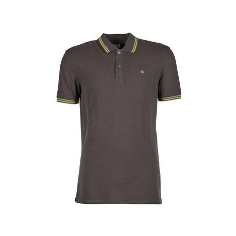 Napapijri ELDIS STRIPE men's Polo shirt in Grey