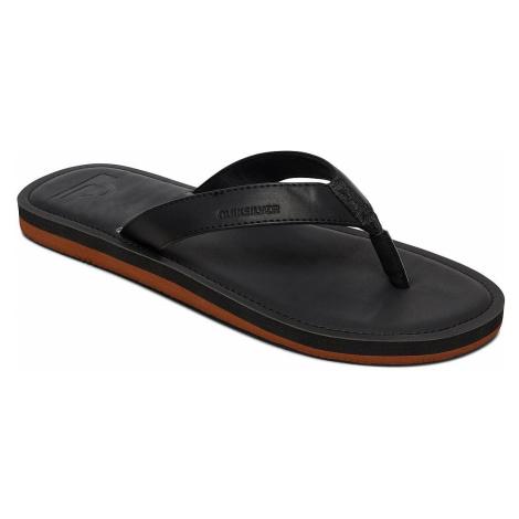 flip flops Quiksilver Molokai Nubuck II - SBKM/Solid Black - men´s