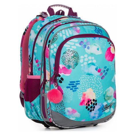 backpack Topgal ELLY 19039 - G/Turquoise - girl´s