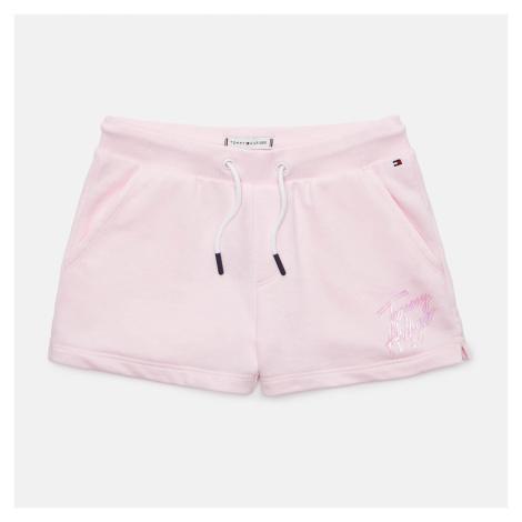 Tommy Hilfiger Girls' Script Print Sweat Shorts - Pink Breeze