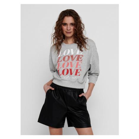 ONLY Lucy Sweatshirt Grey