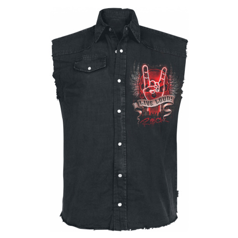 Spiral - Live Loud - Sleeveless workershirt - black