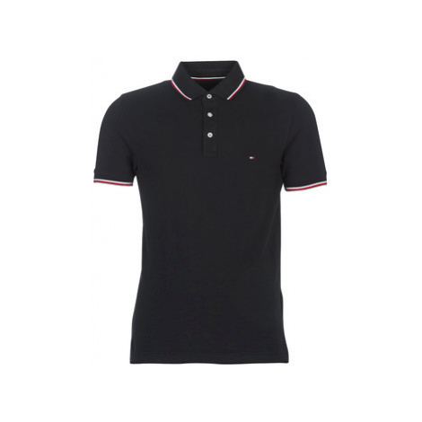 Tommy Hilfiger TOMMY TIPPED SLIM POLO men's Polo shirt in Black