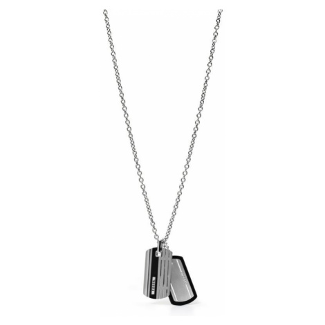 Mens Fossil Stainless Steel Casual Necklace