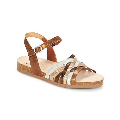 Think TIANIA women's Sandals in Gold
