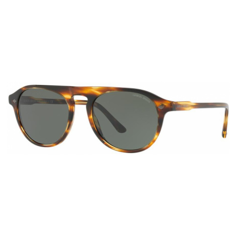 Giorgio Armani Man AR8096 - Frame color: Brown, Lens color: Green, Size 53-19/145